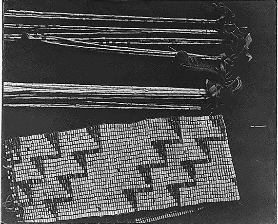 Detail of wampum belts